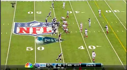 Nfl On Cbs Score Banner The down markers also changed