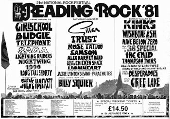 Headlining the Friday night of the 1981 Reading Festival was the highlight of Girlschool's career Reading-81-poster.jpg