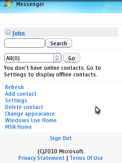 Windows Live Messenger Mobile screenshot.png