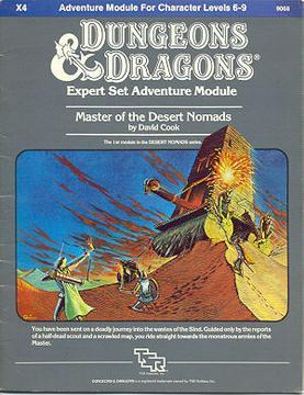 Cover of X4 Master of the Desert Nomads
