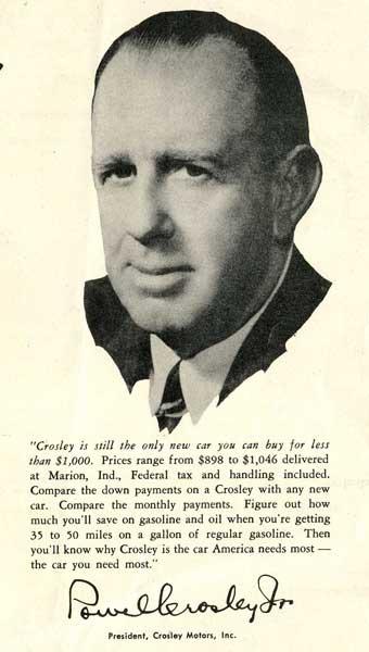 Powel Crosley Jr  - Wikipedia