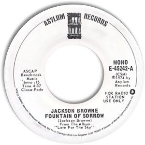 Fountain of Sorrow 1975 single by Jackson Browne