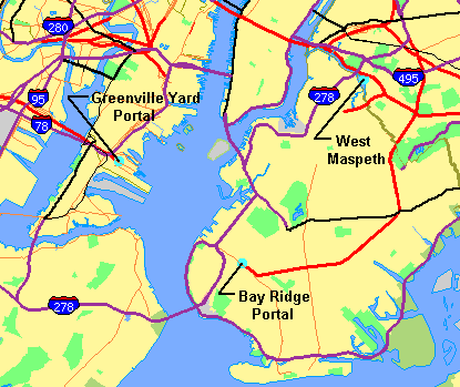 Map Of New York Harbour.File Crossharborrailfacilitymap Png Wikipedia