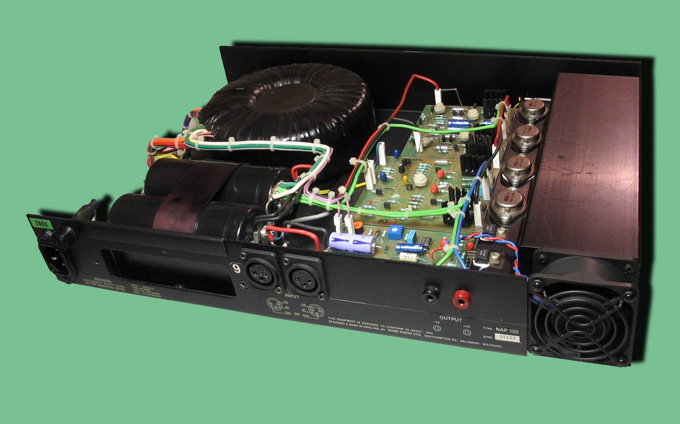 Naim Audio Amplification Wikipedia Circuit 150w Amplifier With Active Crossover Circuitschematic Inside A Monoblock Chrome Nap 135