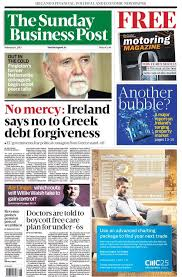 Irish national financial Sunday newspaper