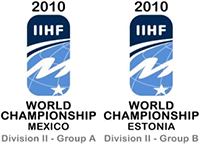 2010 IIHF World Championship Division II ice hockey tournament in Mexico and Estonia