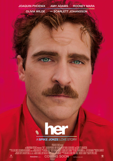 <i>Her</i> (film) 2013 American science-fiction romantic drama film