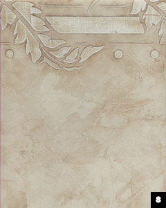 Example of a stenciled plaster design