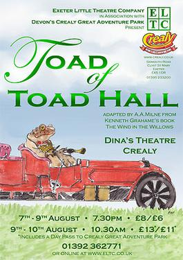 Poster for a 2008 theatrical production of Toad of Toad Hall