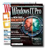 Cover of Windows IT Pro magazine