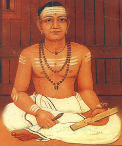 A modern depiction of Ezhuthachan Portrait of Thunchaththu Ramanujan Ezhuthachan,the father of the Malayalam language.jpg