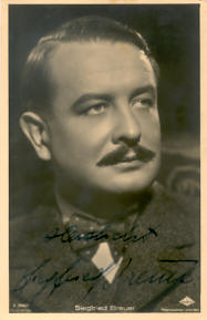 Siegfried Breuer Austrian stage and film actor and occasional film director and screenwriter
