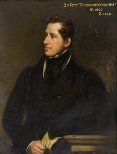Sir Robert Throckmorton, 8th Baronet English Whig and Liberal politician