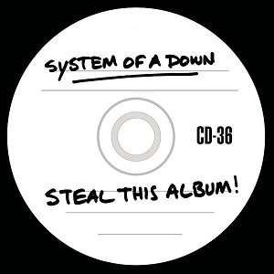"I remember System of a Down doing this with ""Steal this Album""  http://upload.wikimedia.org/wikipedia/en/4/45/StealThisAlbum.png"