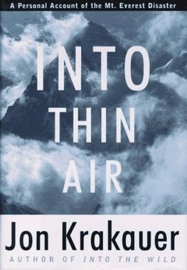Analysis of Into Thin Air by Jon Krakauer