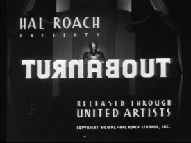 <i>Turnabout</i> (film) 1940 film by Hal Roach