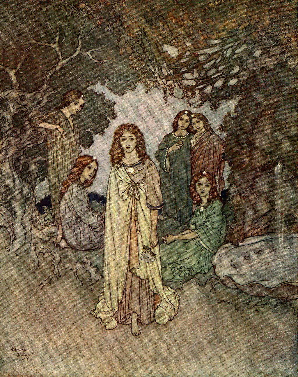 File:Edmund Dulac - The Garden of Paradise - Fairy of the Garden.jpg ...