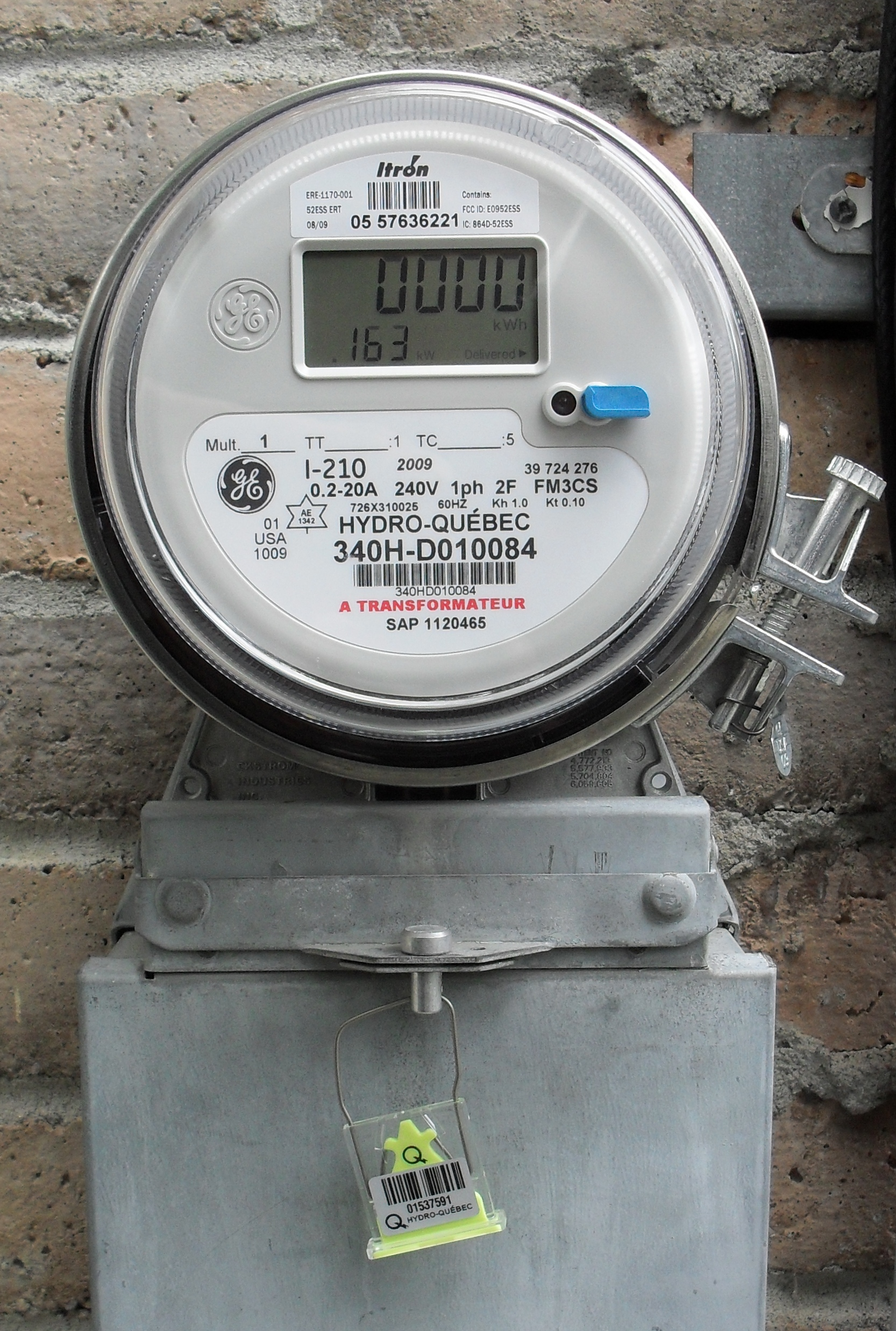 Electric Meter On House : File hydro quebec meter solid state g wikipedia