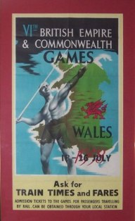 Original poster from the 1958 British Empire and Commonwealth Games