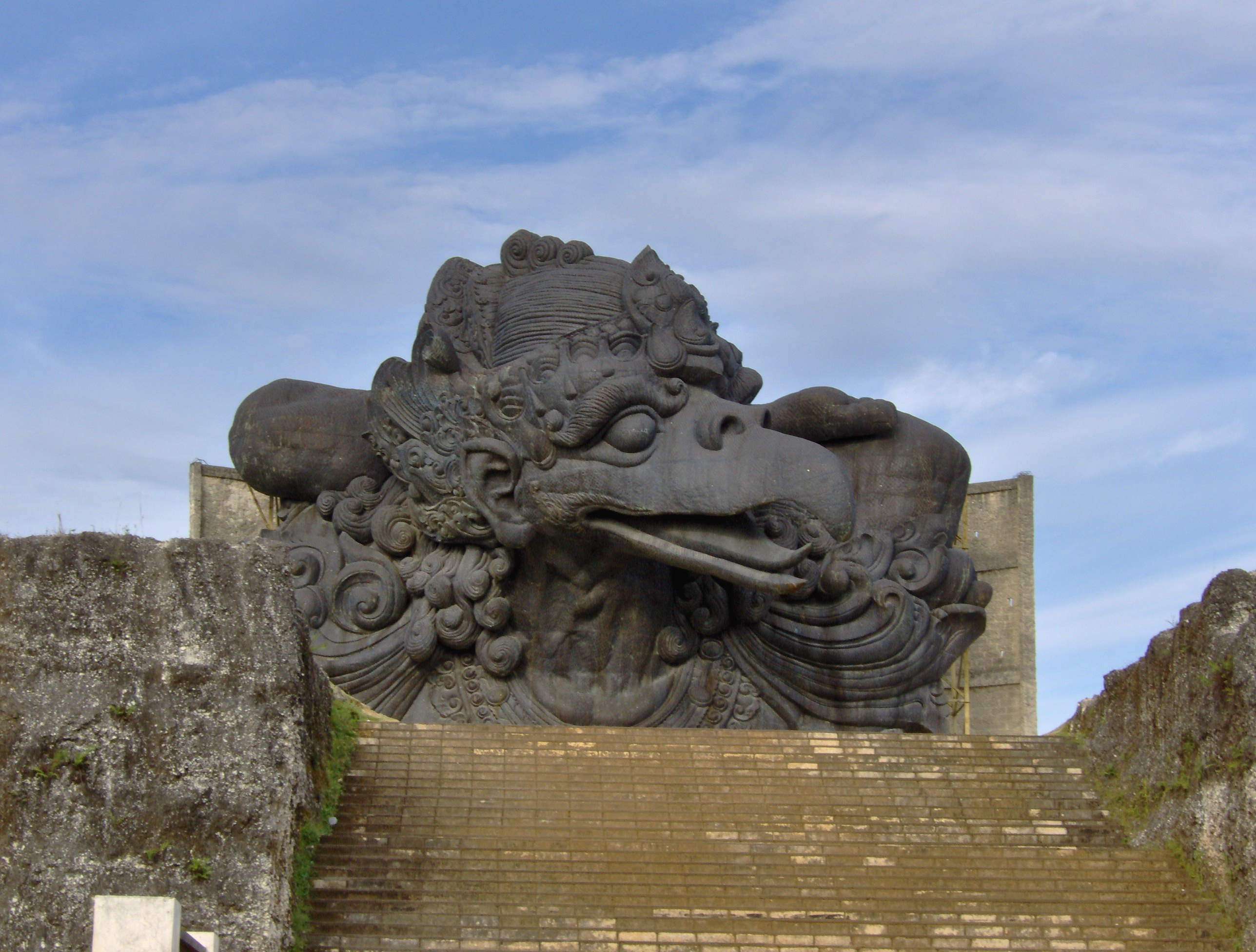 The Mythical Bird Garuda As The Lord Vishnus Mount Garuda Wisnu Kencana
