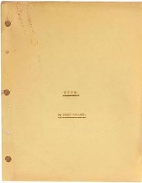"The cover of the original 1932 screenplay for the film King Kong by Edgar Wallace entitled ""Kong"". Kong screenplay 1932 Edgar Wallace.jpg"