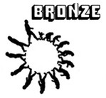The logo of Bronze Records