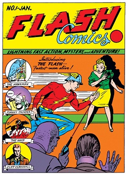 First appearance in Flash Comics #1 (Jan 1940).