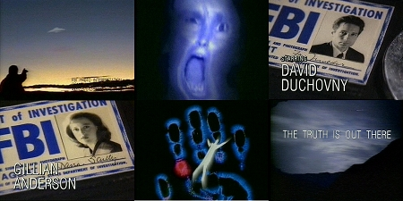 Shots from the show's original and current opening credit sequence