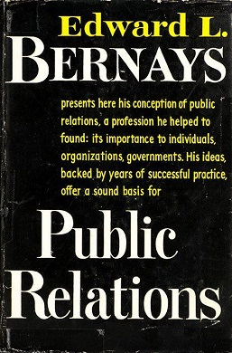 Cover of Public relations, Edward L. Bernays a...