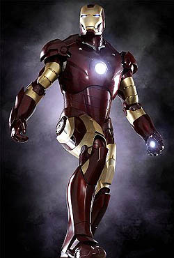 Tony Stark's armor, as seen in Iron Man (2008) Iron Man Mark III armor from Iron Man (2008 film).jpg