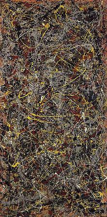 Jackson Pollock, No. 5, 1948, oil on fiberboard, 244 x 122 cm. (96 x 48 in.), private collection
