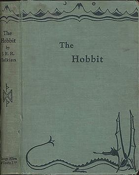 Cover of the first edition of The Hobbit from 1937, from a drawing by Tolkien.
