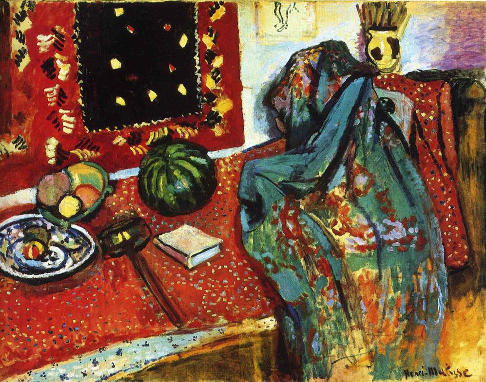 File henri matisse 1906 le tapis rouge int rieur au for Interieur rouge matisse