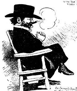 Pardee as depicted by cartoonist George Herriman in 1906.