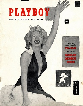 The front cover of the first issue of Playboy, featuring Marilyn Monroe, December 1953