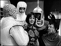 Lambert on the Doctor Who set Verity Lambert 1965.jpg