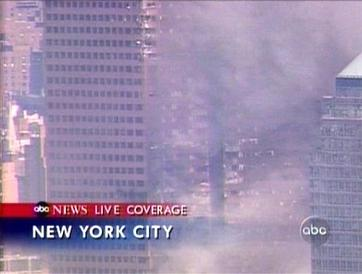 Few photos and video clips exist that show the damage sustained to the south face of 7 World Trade Center on 9/11. An ABC News helicopter captured footage of the south face of 7 World Trade Center, including a glimpse of a gash, extending approximately 10 stories. Abcnews-wtc7damage.jpg