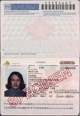 Application For Canadian Passport Form