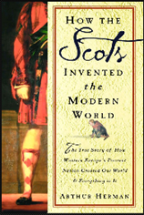 Cover shows one half of a male figure from the neck down, wearing kilt and long, chequered stockings