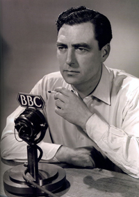 John Arlott in a post-war posed BBC shot