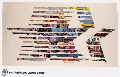 Official poster of the 1984 Summer Olympics Los Angeles 1984 poster.png