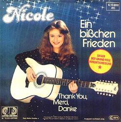 Ein bißchen Frieden 1982 song by Nicole Seibert