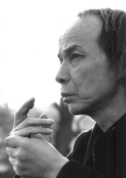 The image of Japanese composer Tōru Takemitsu ...