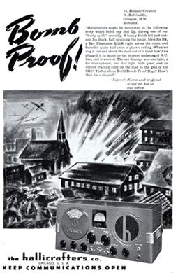 1942 ad for Hallicrafters S-20R Bomb proof advertisement for Hallicrafters.jpg