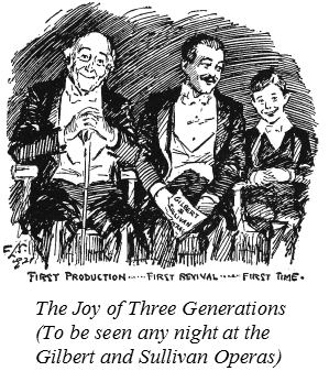 1921 cartoon of Gilbert and Sullivan audiences