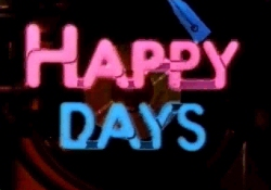 <i>Happy Days</i> 1974-1984 television comedy set in the 1950s