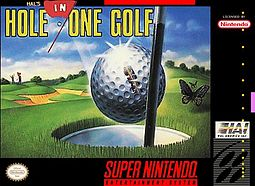 <i>Hals Hole in One Golf</i> 1991 SNES golf game