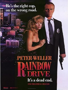 "Poster and VHS cover of ""Rainbow Drive"""