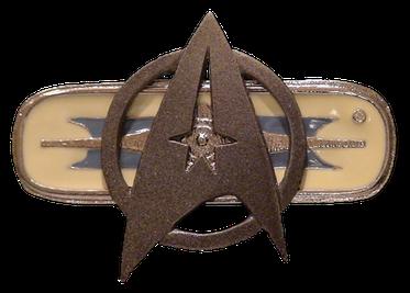 Star Trek TOS Movie Uniform Rank Pin Pip Badge Insignia FLEET CAPTAIN Maroon