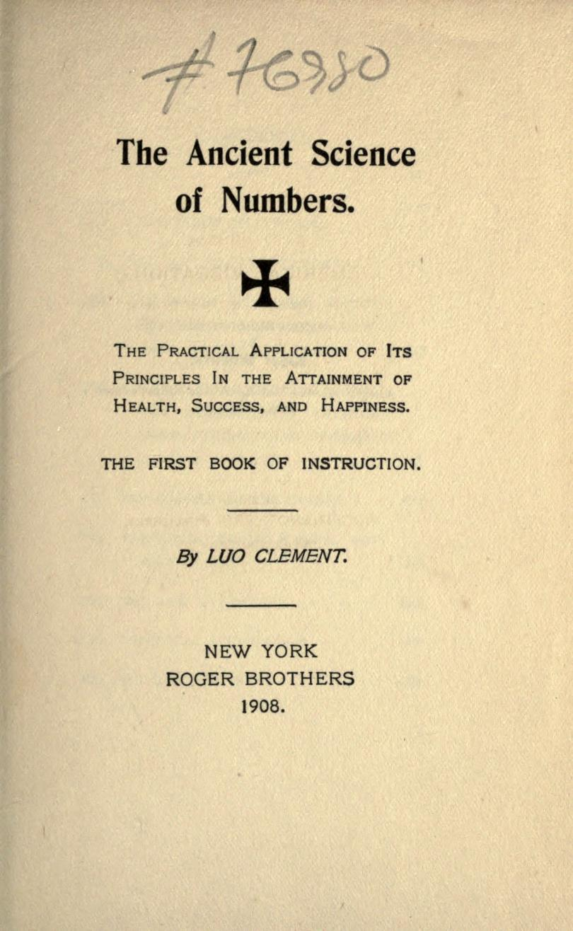The Ancient Science of Numbers - Wikipedia